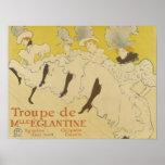 Toulouse Lautrec- La Troupe de Mlle Eglantine 1895 Poster