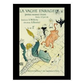 Toulouse-Lautrec La Vache Enragee Postcard