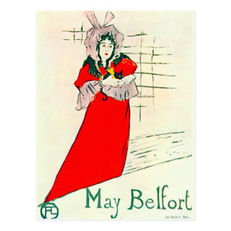 Toulouse-Lautrec May Belfort 1895 Poster Postcard
