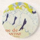 Toulouse Lautrec Poster Art Coaster