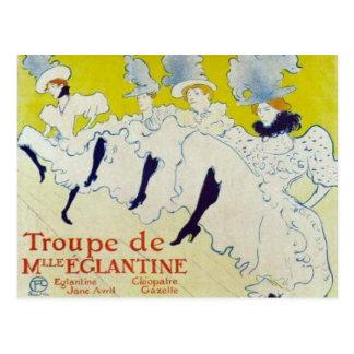 Toulouse Lautrec poster Postcard