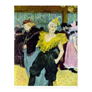 Toulouse Lautrec The Clowness vintage picture, Postcard