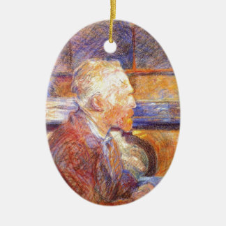Toulouse-Lautrec - Van Gogh Ceramic Ornament