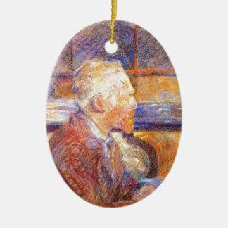 Toulouse-Lautrec - Van Gogh Ceramic Oval Ornament