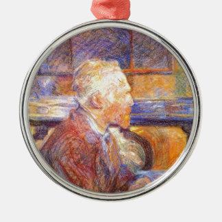 Toulouse-Lautrec - Van Gogh Silver-Colored Round Ornament
