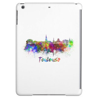 Toulouse skyline in watercolor iPad air cases