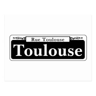 Toulouse St., New Orleans Street Sign Postcard
