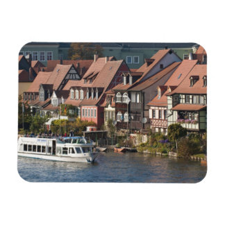 Tour boat in Little Venice and River Regnitz Rectangular Photo Magnet