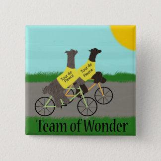 Tour de Fleece Team of Wonder 2 Inch Square Button