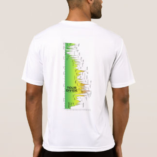 Tour Divide Elevation Profile t-shirt (Sideways)