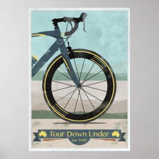 Tour Down Under Bike Race Poster