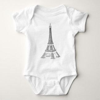 tour Eiffel Baby Bodysuit