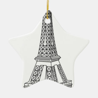tour Eiffel Ceramic Ornament