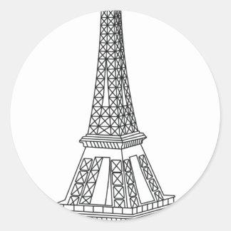 tour Eiffel Classic Round Sticker