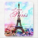 Tour Eiffel de cru d'art de bruit Tapis De Souris