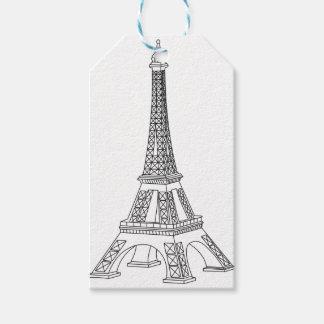 tour Eiffel Gift Tags