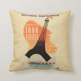 Tour Eiffel loterie nationale Throw Pillow