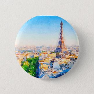 Tour Eiffel - Paris 2 Inch Round Button