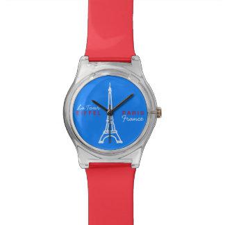 tour eiffel paris france wrist watch