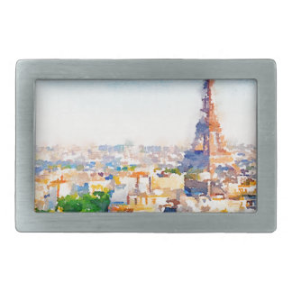 Tour Eiffel - Paris Rectangular Belt Buckle