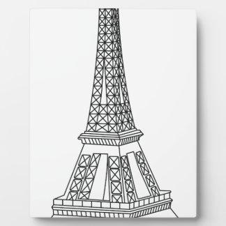tour Eiffel Plaque