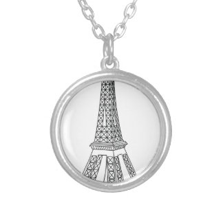 tour Eiffel Silver Plated Necklace