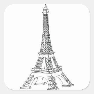 tour Eiffel Square Sticker