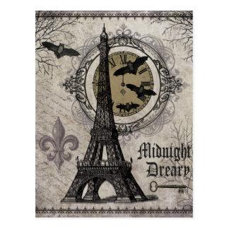 Tour Eiffel vintage moderne de Halloween de Carte Postale