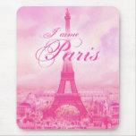 Tour Eiffel vintage rose Tapis De Souris