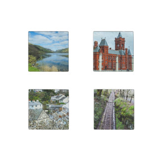 Tour of Wales Coasters Stone Magnets