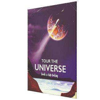 Tour the Universe vintage science fiction poster Canvas Print