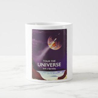Tour the Universe vintage science fiction poster Large Coffee Mug