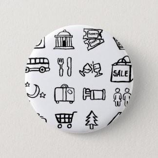 Tourism and Travel Icons 2 Inch Round Button