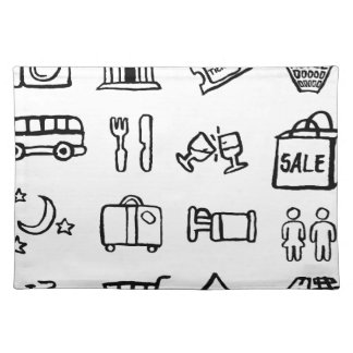 Tourism and Travel Icons Placemat
