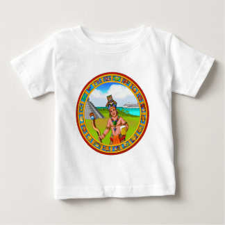 Tourism Chichen Itza Pyramid Tourguide Cold Beer Baby T-Shirt