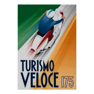 Tourismo Veloce Scooter Advert Poster