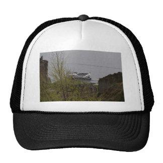 Tourist boat on Loch Ness near Urquhart Castle Trucker Hat