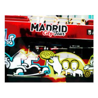 Tourist bus of Madrid (Spain) Postcard