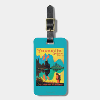 Tourist Poster - Yosemite Nat'l Park, CA Luggage Tag