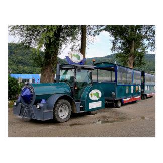 Tourist Shuttle train, Durnstein, Austria Postcard