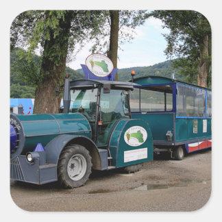Tourist Shuttle train, Durnstein, Austria Square Sticker
