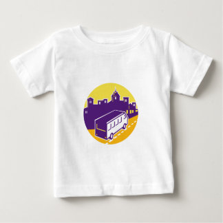 Tourist Van City Cityscape Circle Retro Baby T-Shirt