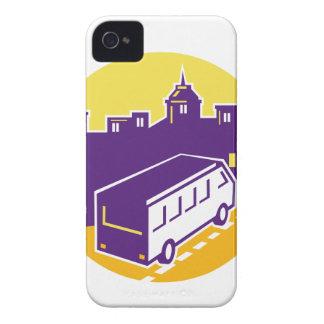 Tourist Van City Cityscape Circle Retro iPhone 4 Case