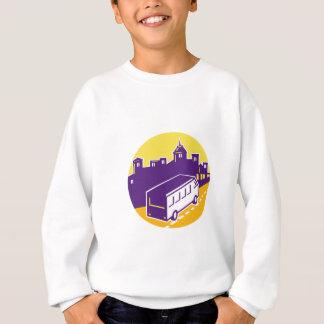 Tourist Van City Cityscape Circle Retro Sweatshirt