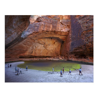 Tourists at Cathedral Gorge, Bungle Bungles Postcard
