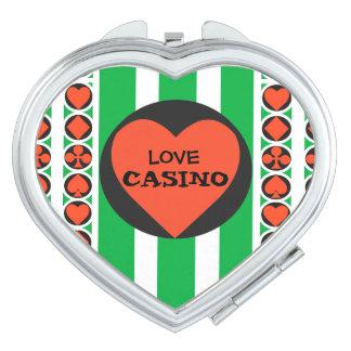 TOURNAMENT CASINO  compact mirror HEART