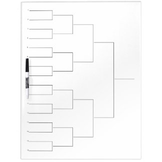 Tournament draw dry erase board for 16 players