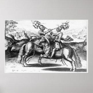 Tournament scene between Henri IV  and Antoine Poster