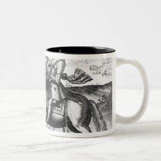 Tournament scene between Henri IV  and Antoine Two-Tone Coffee Mug