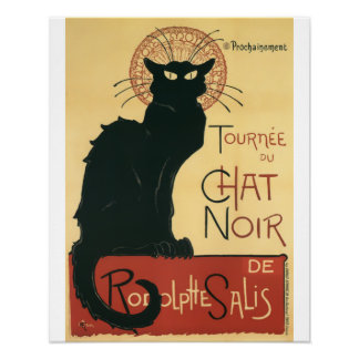 Tournee Du Chat Noir Black Cat Vintage Print